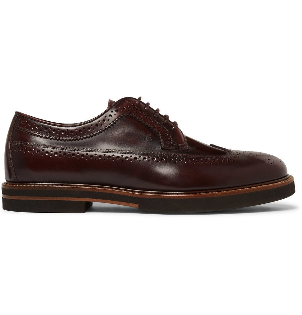 Tod's - Leather Wingtip Brogues - Brown