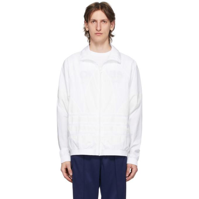 Photo: adidas Originals White Big Trefoil Track Jacket