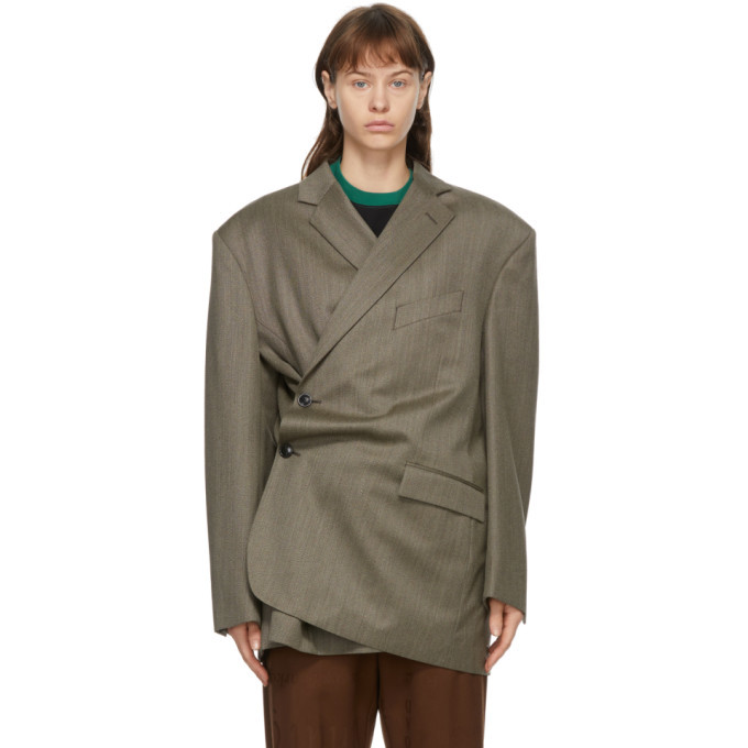 Photo: Martine Rose Brown Turnmills Oversized Twist Jacket