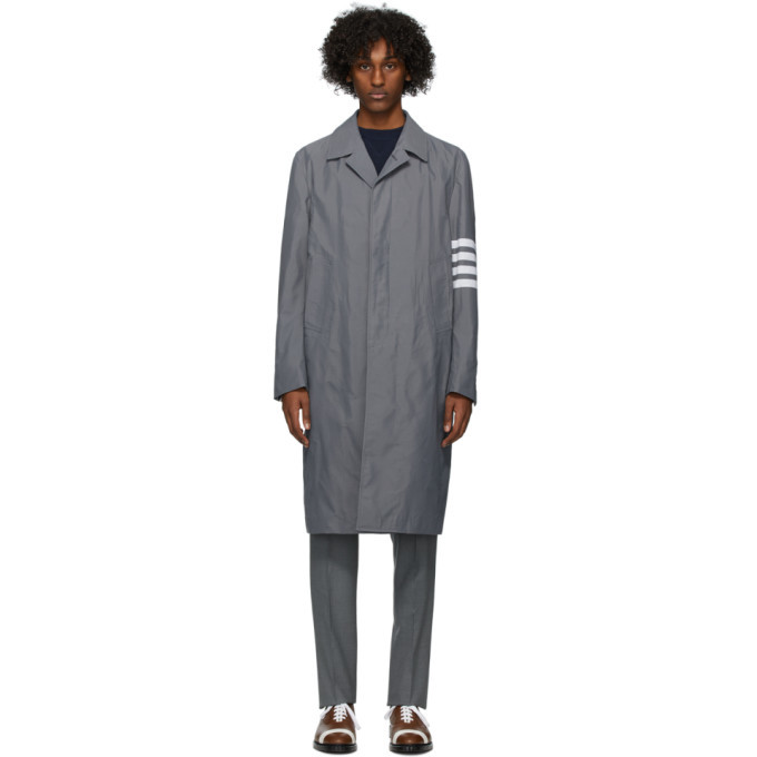 Photo: Thom Browne Grey Engineered Ripstop Coat