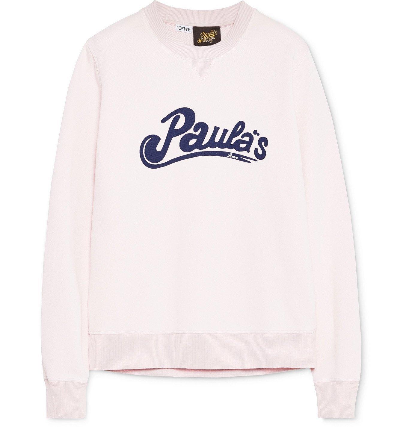 Photo: Loewe - Paula's Ibiza Logo-Print Cotton-Jersey Sweatshirt - Pink
