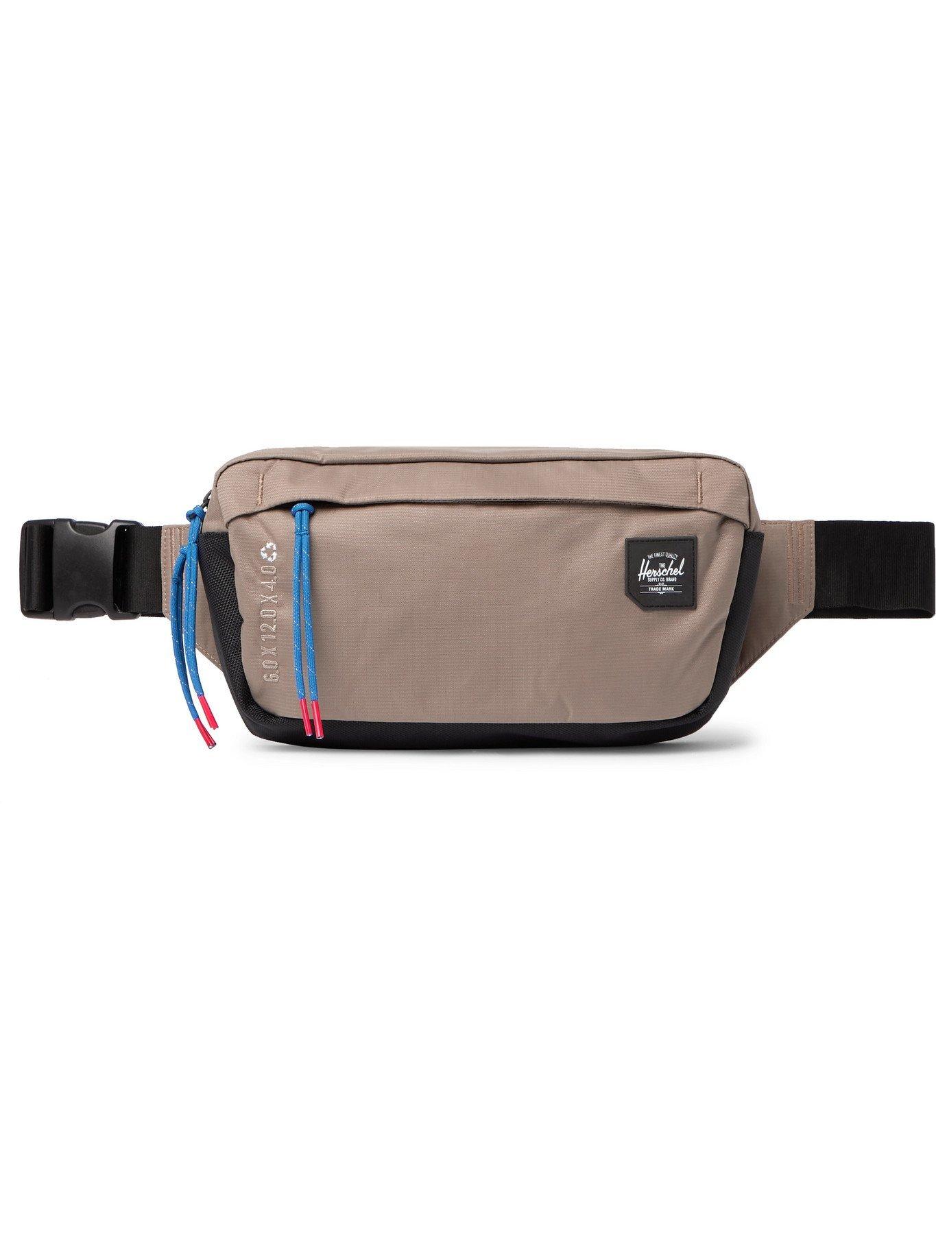 Photo: HERSCHEL SUPPLY CO - Logo-Appliquéd 210D Nailhead Dobby-Nylon Belt Bag