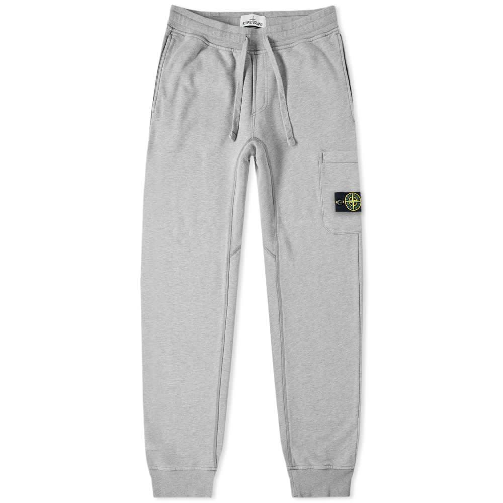 Photo: Stone Island Garment Dyed Sweat Pant Grey Marl