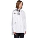 Raf Simons White Pleats Couple Shirt