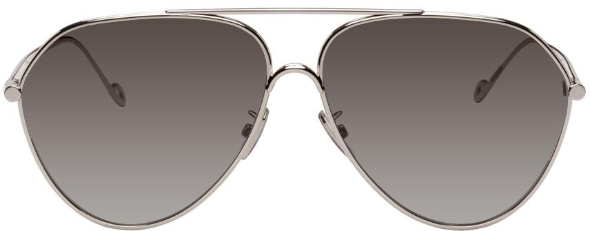 Photo: Loewe Silver Pilot Sunglasses