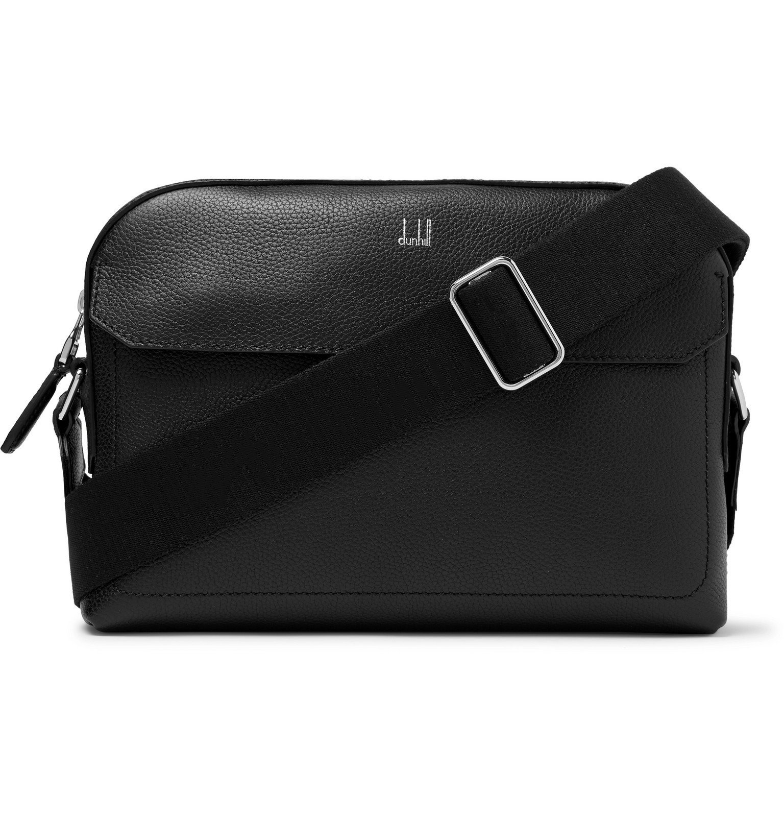 Photo: Dunhill - Belgrave Full-Grain Leather Messenger Bag - Black
