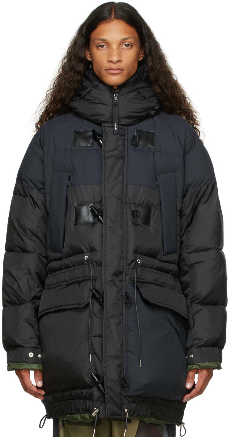 Photo: Sacai Reversible Black & Green Insulated Jacket