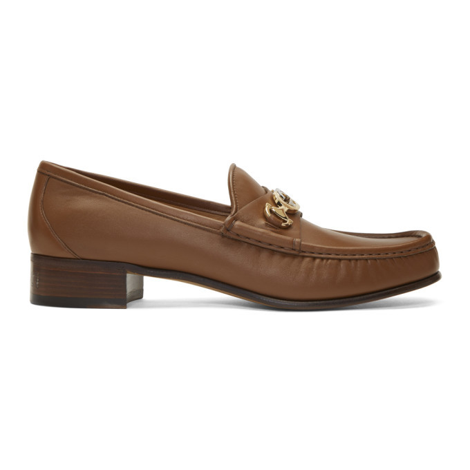 Photo: Gucci Brown Interlocking G Horsebit Loafers