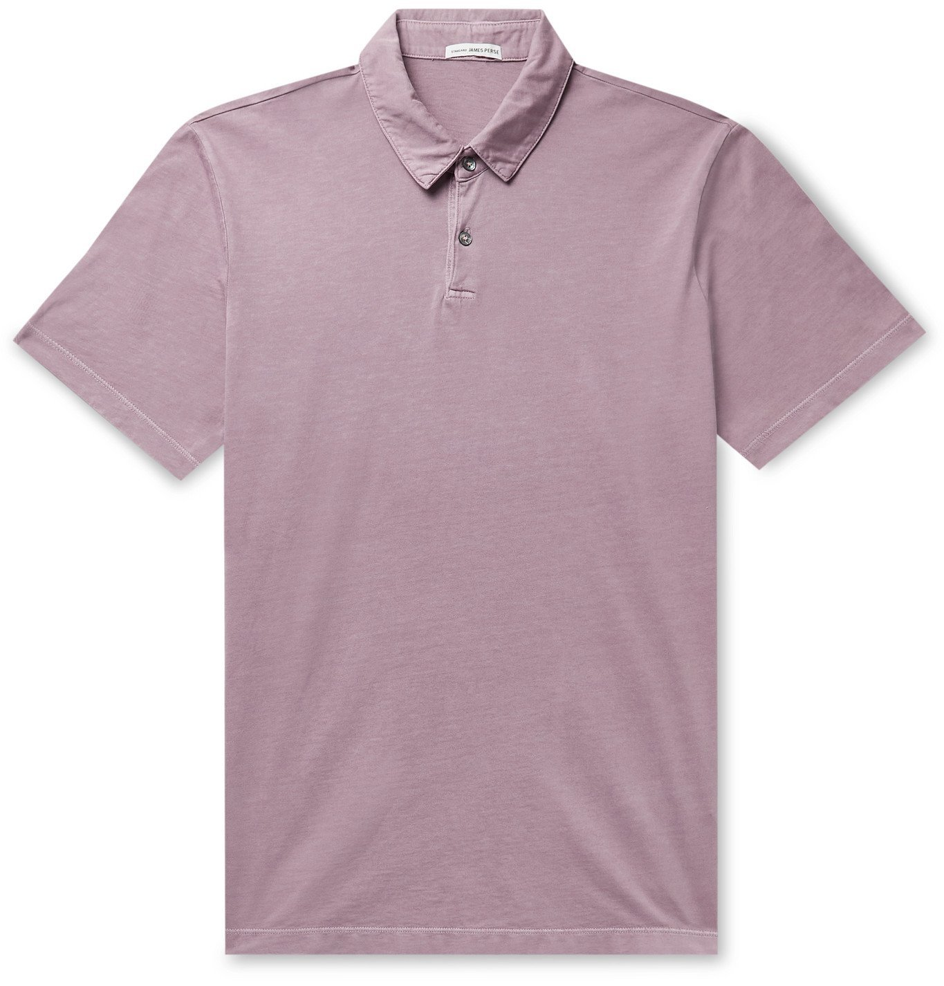 Photo: JAMES PERSE - Supima Cotton-Jersey Polo Shirt - Pink