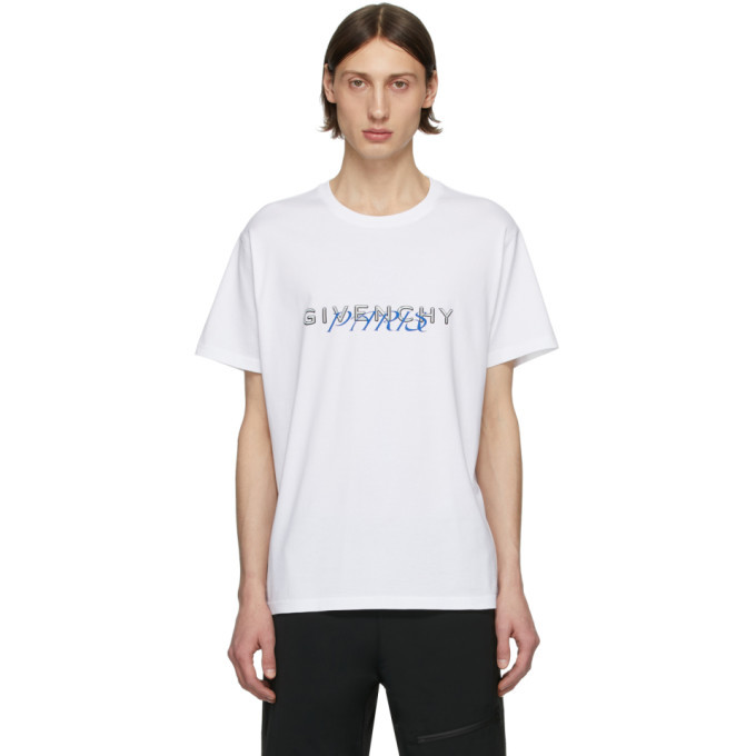 Photo: Givenchy White Logo Mix T-Shirt