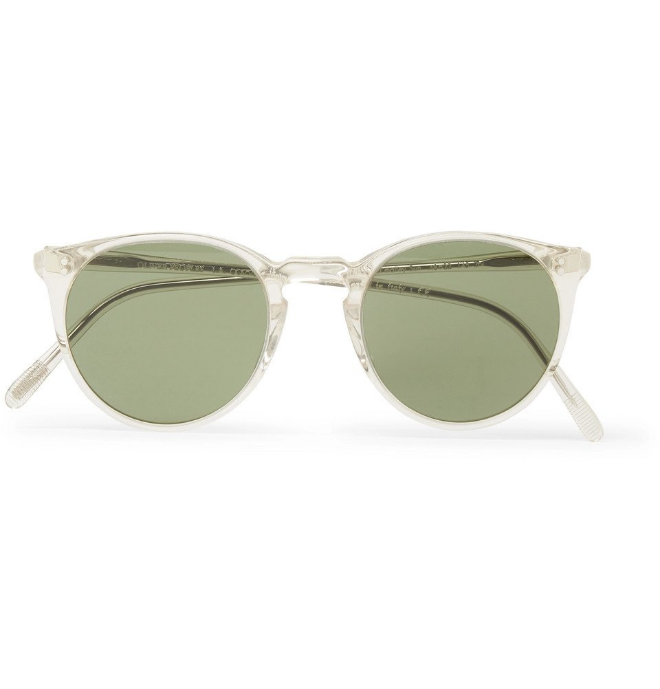 Oliver Peoples - O'Malley Round-Frame Gold-Tone and Acetate Polarised Sunglasses - Men - Gold