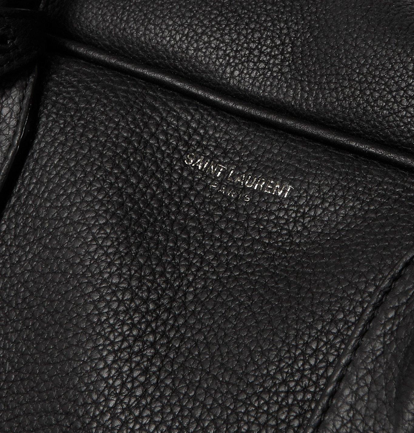 SAINT LAURENT - Full-Grain Leather Holdall - Black