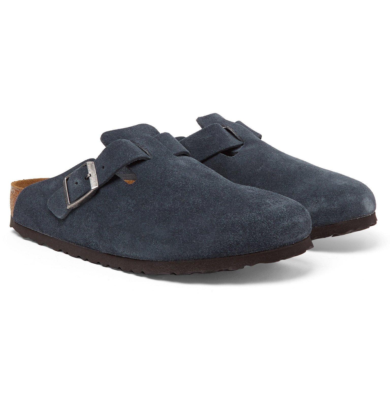 Photo: Birkenstock - Boston Suede Sandals - Blue