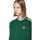 adidas Originals Green 3-Stripe Long Sleeve T-Shirt