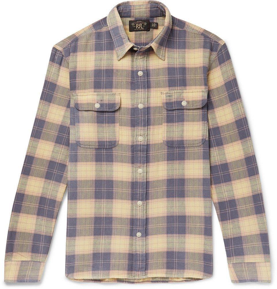 RRL - Checked Cotton-Flannel Shirt - Men - Blue