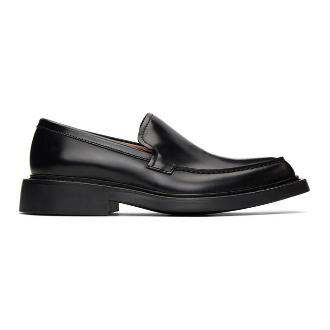 Photo: Bottega Veneta Black The Level Loafers