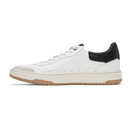 Dunhill White and Black Court Elite Sneakers