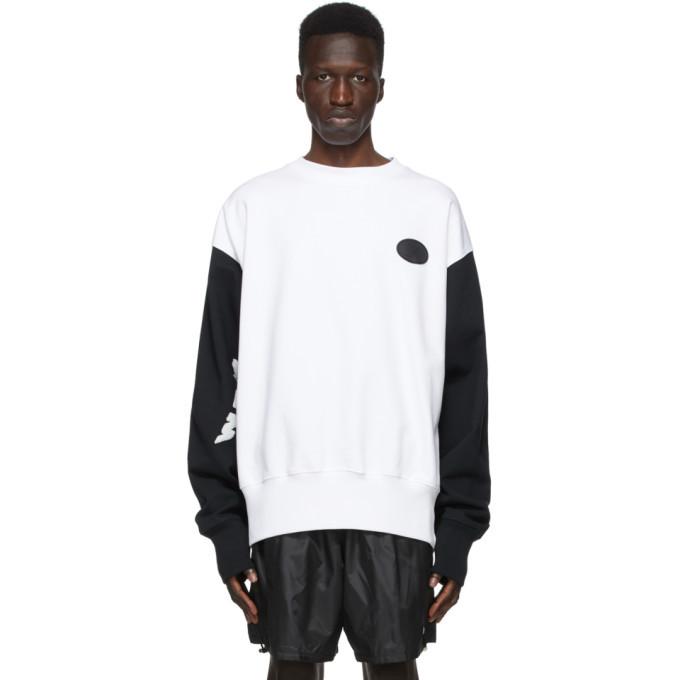 Photo: We11done White and Black Logo Applique Sweatshirt