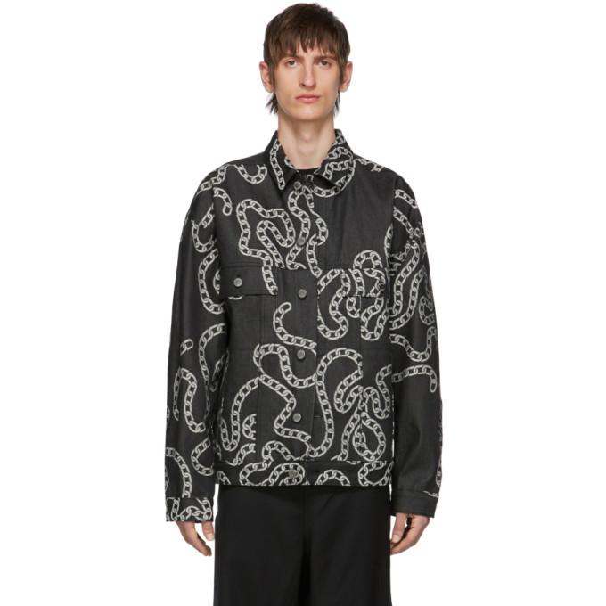Photo: Etudes Grey Denim Vertige Chainz Jacket