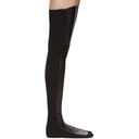 Sacai SSENSE Exclusive Black Faux-Leather Thigh-High Socks