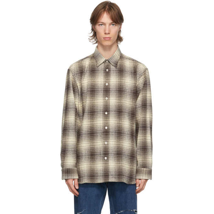Photo: Raf Simons Brown and Beige Check The Others Shirt