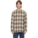 Raf Simons Brown and Beige Check The Others Shirt