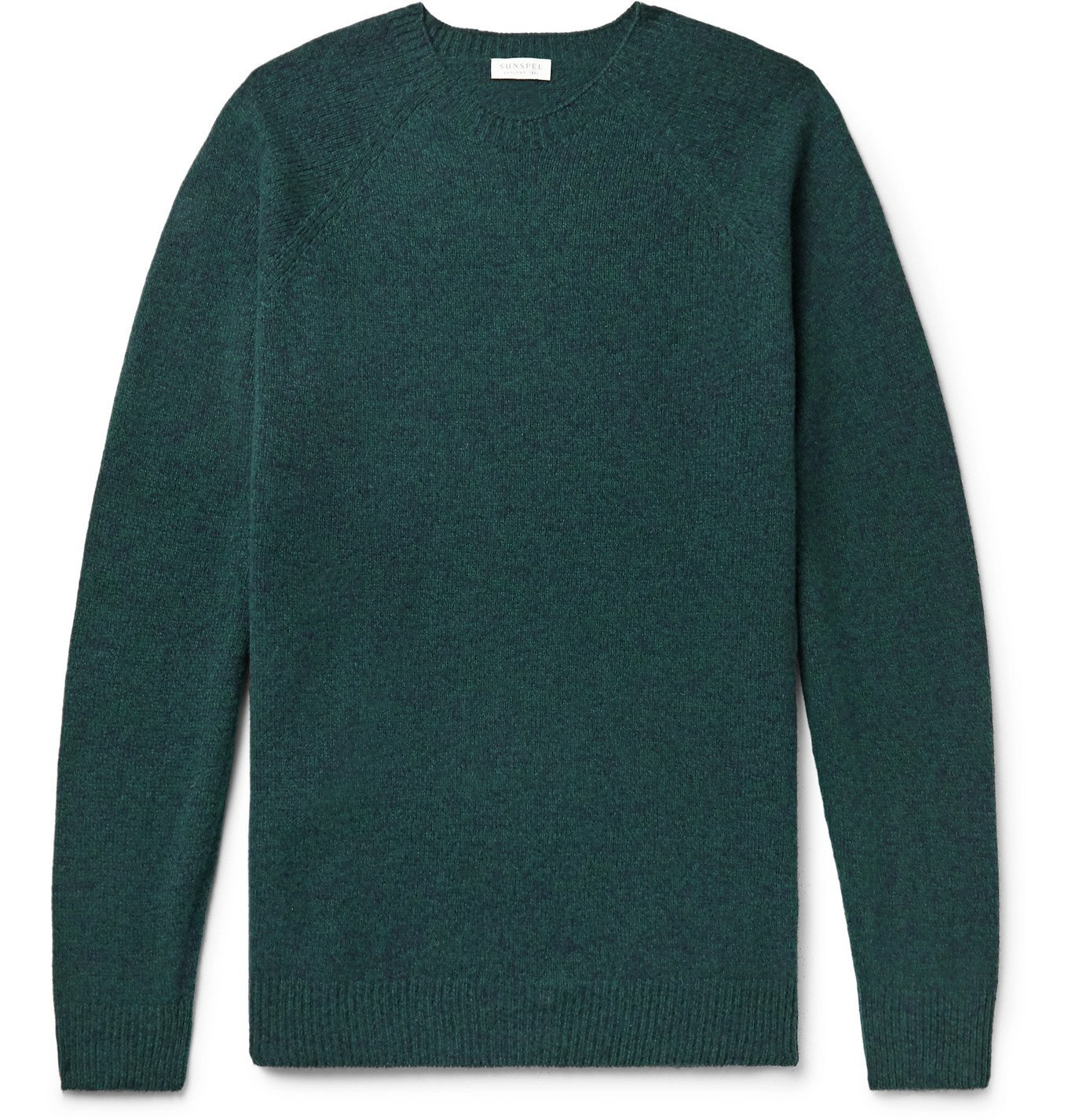 Photo: Sunspel - Mélange Wool Sweater - Green