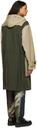 Sacai Beige & Khaki Wool Toggle Coat