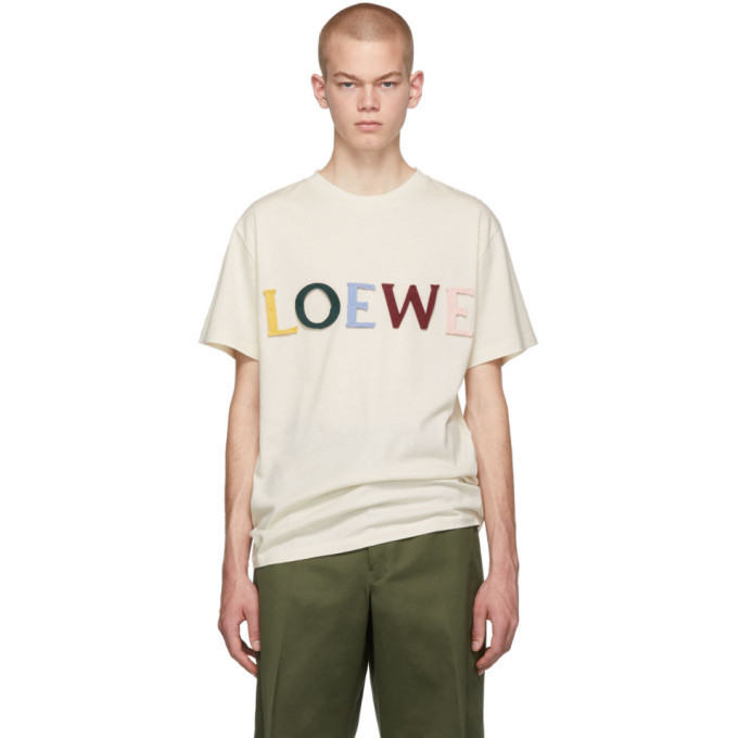 Photo: Loewe Off-White Silk Cut T-Shirt