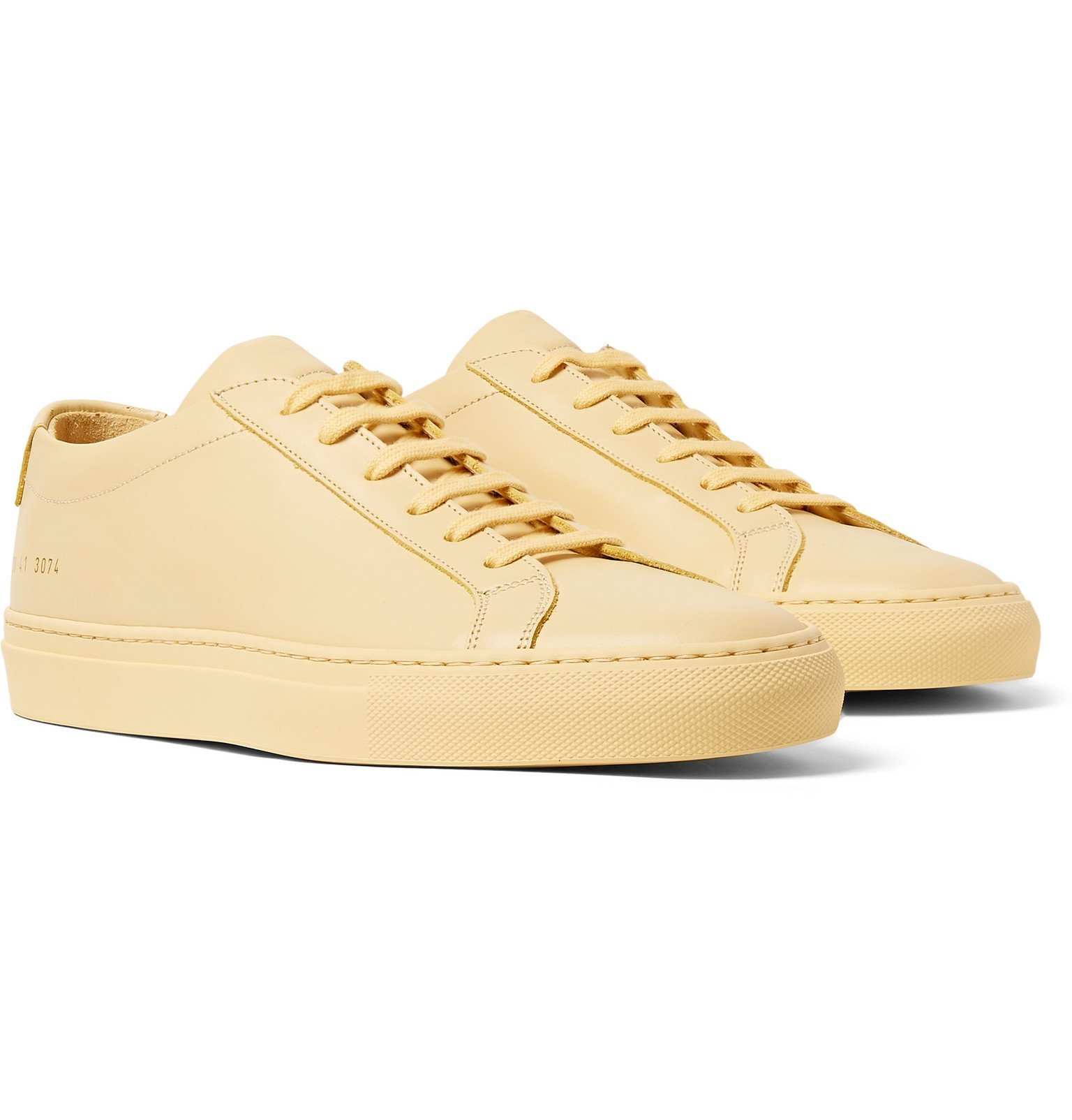 Photo: Common Projects - Original Achilles Leather Sneakers - Yellow