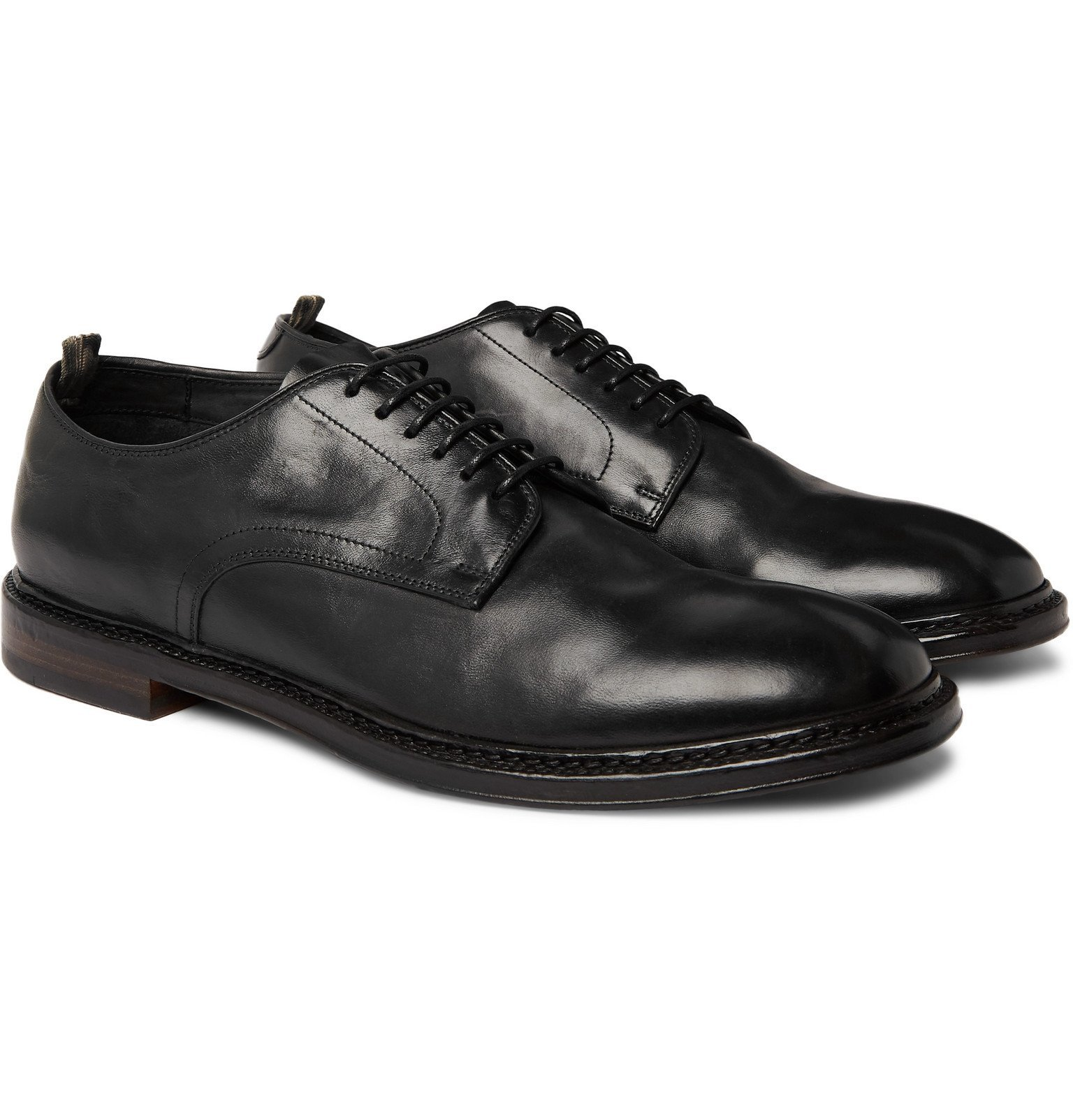 Photo: Officine Creative - Hopkins Leather Derby Shoes - Black