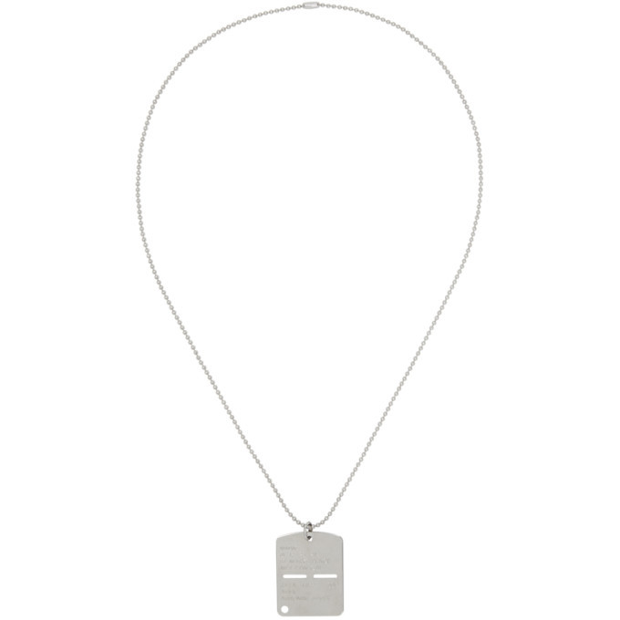 Photo: Alyx Silver Military Dog Tag Necklace