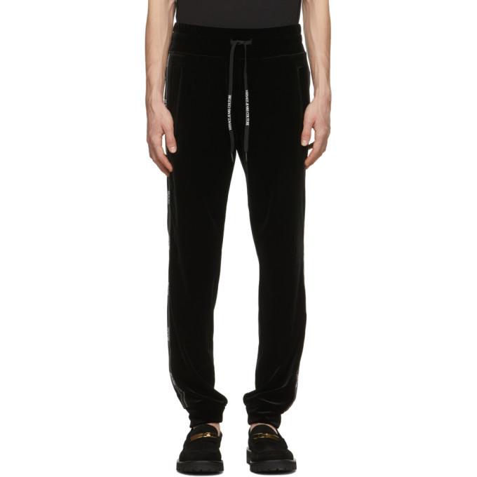 Photo: Versace Jeans Couture Black Velour Logo Track Pants