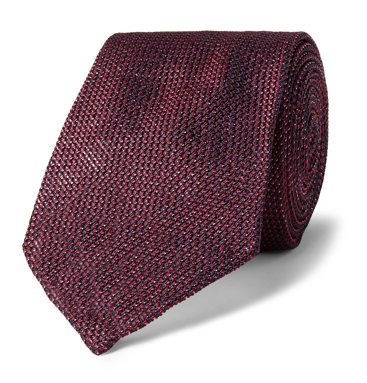 Photo: Canali - 8cm Silk-Gauze Tie - Burgundy