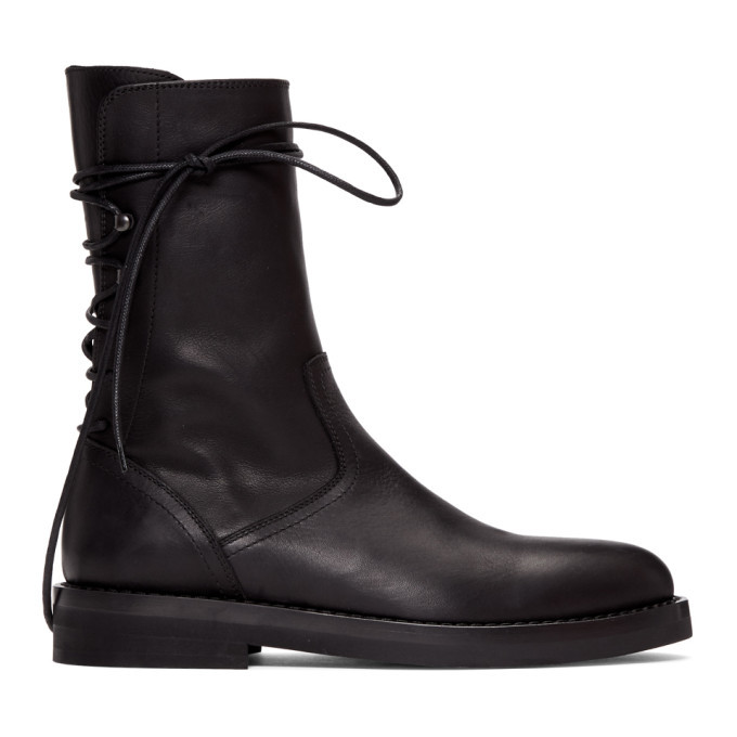 Photo: Ann Demeulemeester Black Back Lace-Up Boots