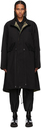 Sacai Black KAWS Edition Fishtail Coat