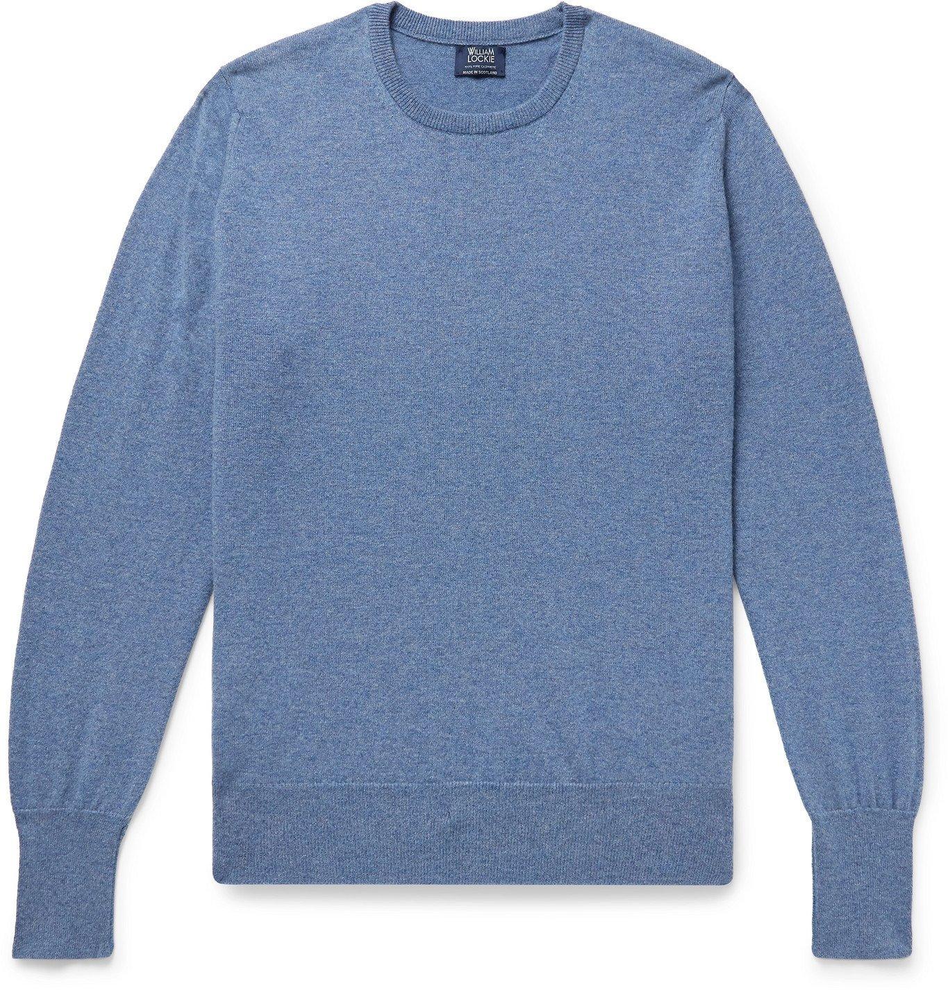 Photo: William Lockie - Mélange Cashmere Sweater - Blue