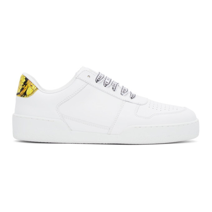 Photo: Versace White Ilus Low Sneakers