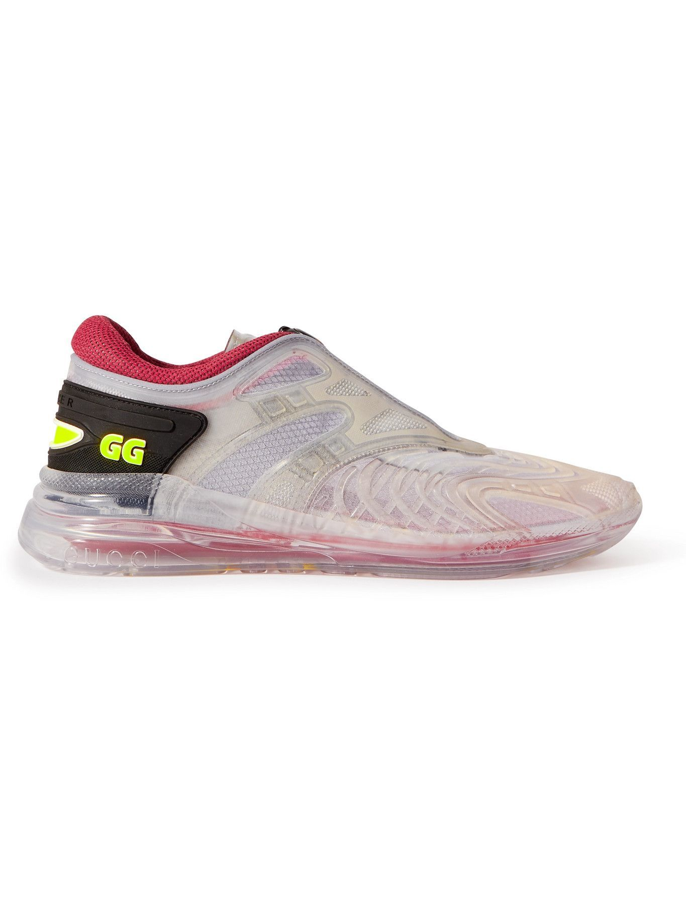 Photo: Gucci - Ultrapace R Mesh-Trimmed Rubber Sneakers - Multi
