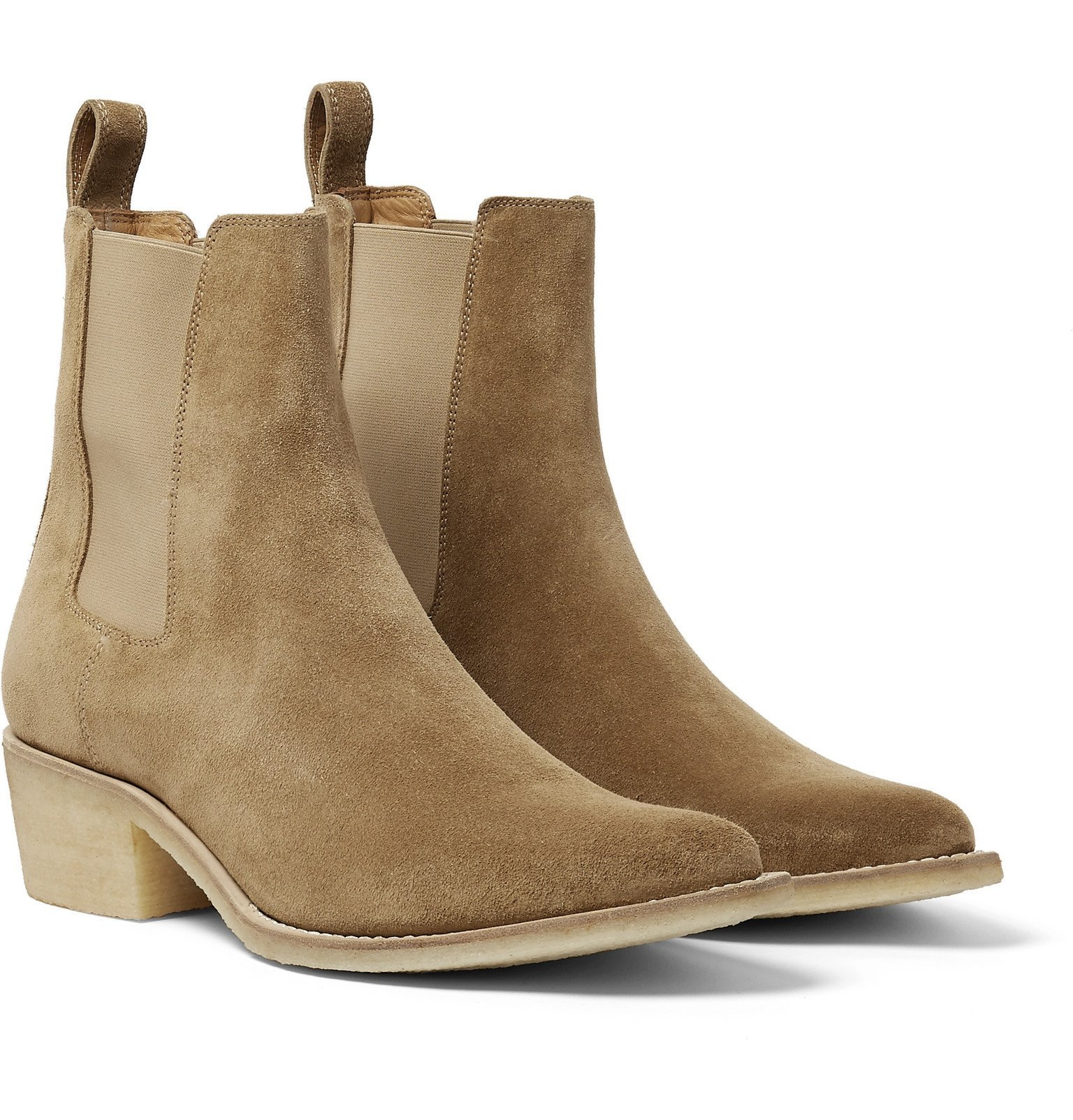 Photo: AMIRI - Suede Chelsea Boots - Brown