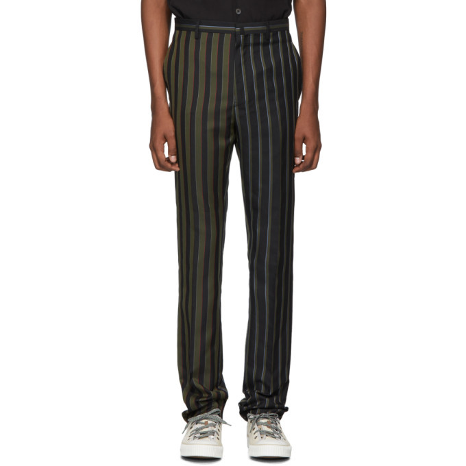 Photo: Lanvin Black Striped Trousers