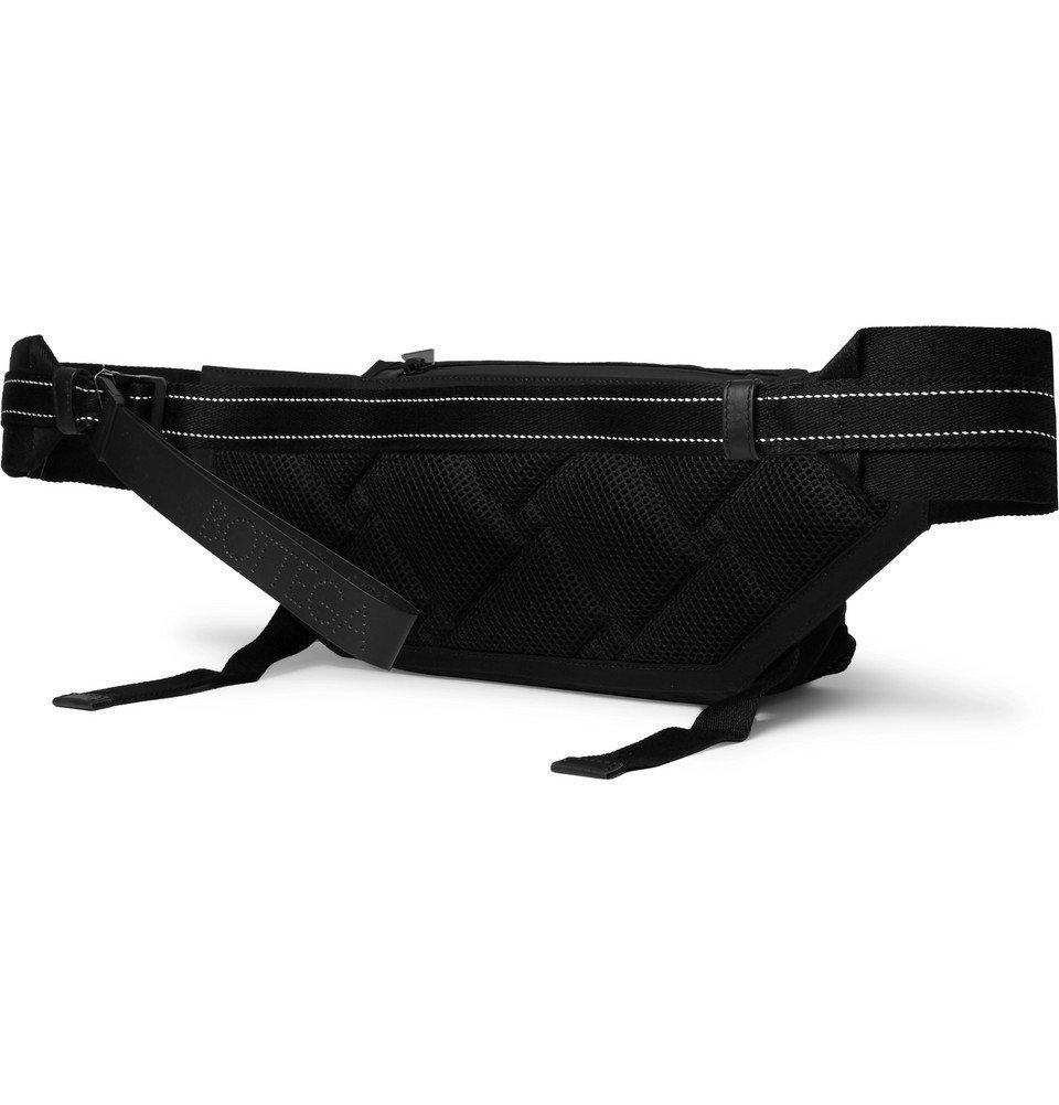 Bottega Veneta - Leather-Trimmed Nylon and Mesh Belt Bag - Black