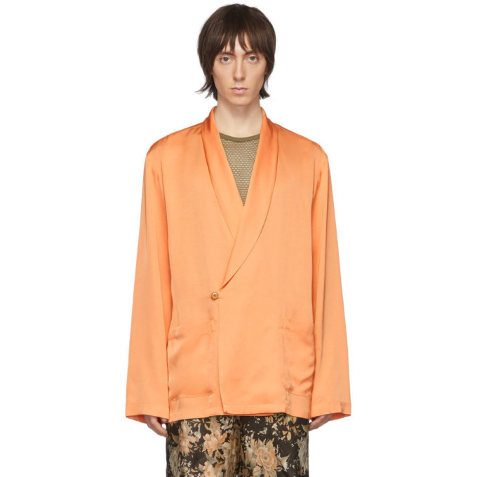 Photo: Dries Van Noten Orange Charles Shirt Blazer
