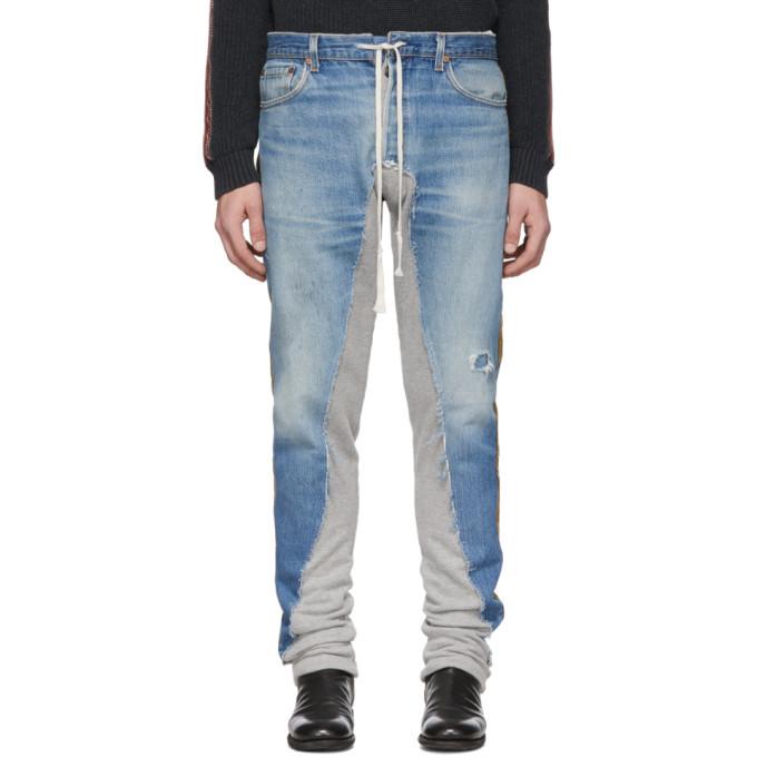 Photo: Greg Lauren Blue 50/50 Denim Terry Royal Jeans