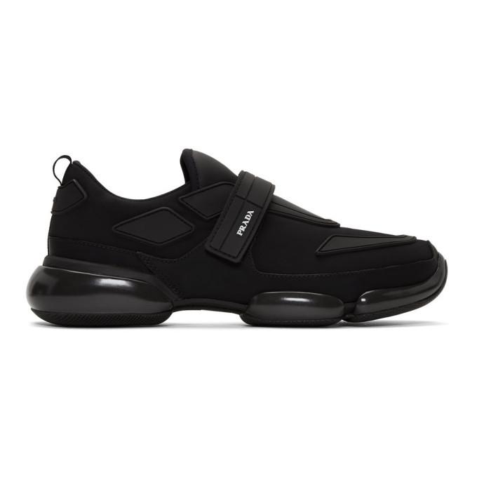 Photo: Prada Black Gabardine Cloudbust Sneakers