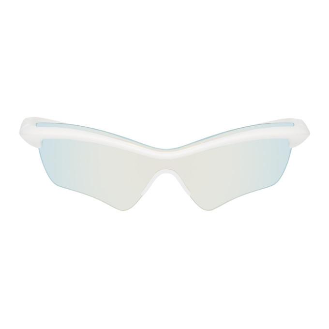 Photo: Maison Margiela White Mykita Edition MMECHO005 Sunglasses
