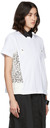 Sacai White Embroidered Lace T-Shirt