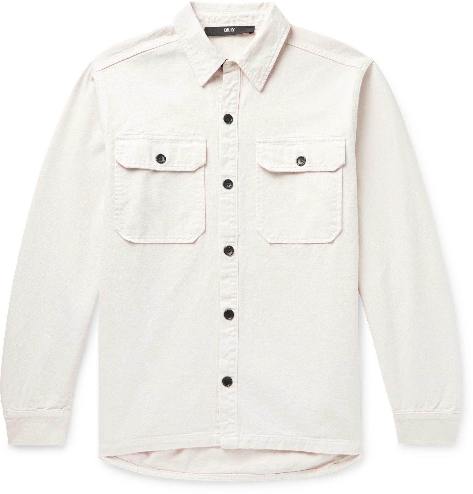 Photo: BILLY - Cotton-Canvas Shirt Jacket - Neutrals