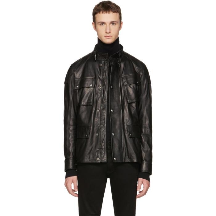 Belstaff Black Leather Woodbridge Jacket