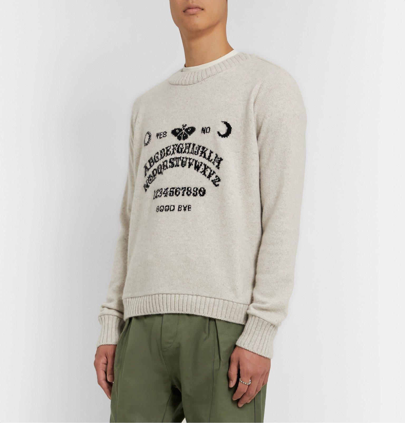The Elder Statesman - Intarsia Cashmere Sweater - Neutrals